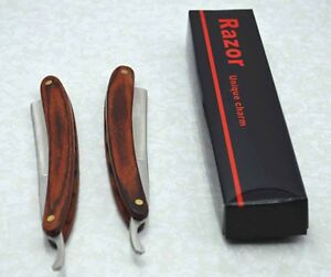Straight-Edge-Razor-Shaving-Razor-Knife-w-Pakkawood-Handle-440-stainless-Steel