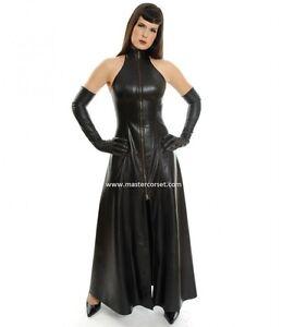 Manches Leather Manteau Évasées Women Sleeve 7329521512247 Black Less Genuine À Moins Longcoat 8w1RZZ