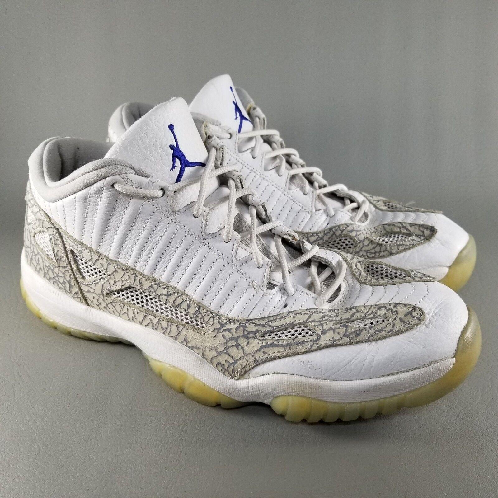Nike Air SZ Jordan 11 XI Retro Low Mens SZ Air 12 Basketball Shoes Sneakers White Gray 632e9f