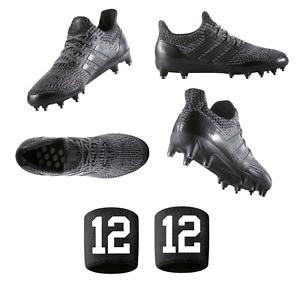 Mens Adidas Triple Black UltraBOOST Primeknit Football Cleats Utra Boost