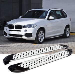 ALU TRITTBRETTER BMW X5   Bj.ab 2012   TÜV & ABE   SEITENSCHWELLER ALU SILBER