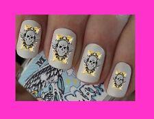 Calcomanías de arte en uñas calavera pirata transferencias Pegatinas Envolturas Láminas Manicura x 40 Goth