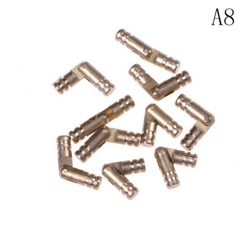 10Pcs Copper Brass Hinge Jewelry Box Hidden Invisible Concealed Barrel HingeBCDE