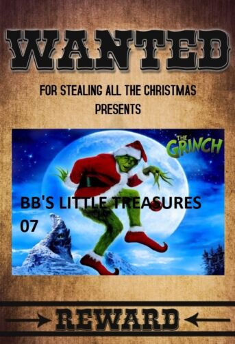 HOW THE GRINCH STOLE CHRISTMAS JIM CARREY MINI WANTED POSTER 8X10 INCHES