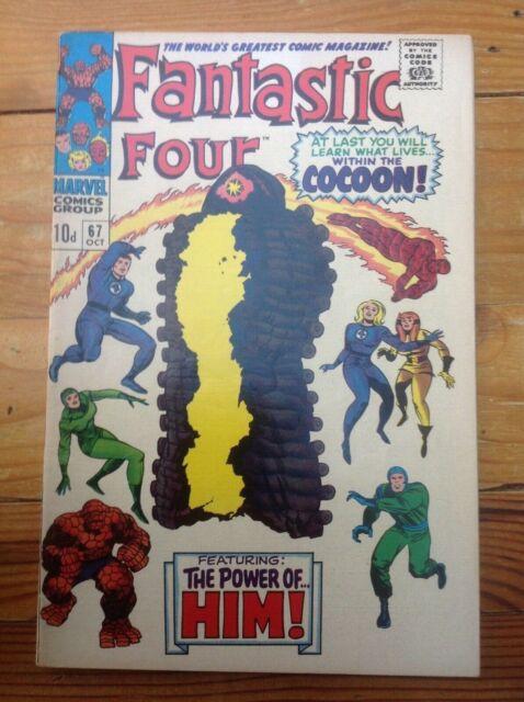 THE FANTASTIC FOUR 67. 1967. 1st APPEARANCE ADAM (HIM) WARLOCK. THANOS.
