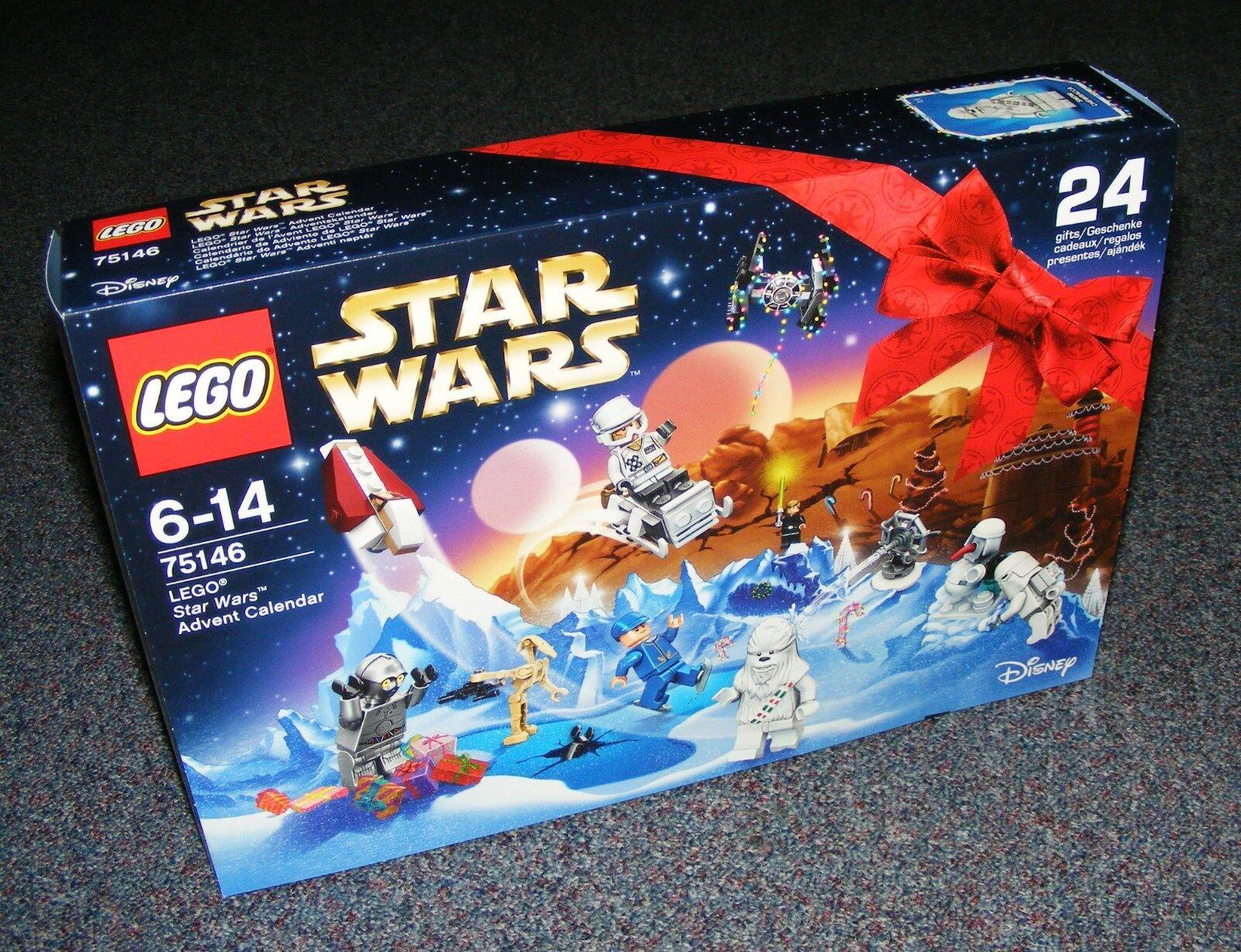 STAR WARS LEGO 75146 ADVENT CALENDAR 2016 BRAND NEW SEALED SNOW CHEWBACCA