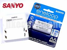 Sanyo eneloop Rechargeable AA HR-3UTGB 2x 1.2v NiMH Battery+TDR02 Charger