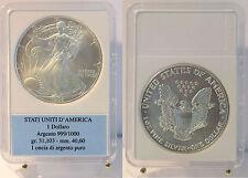 1995 Dollaro d'argento 1 Oz Liberty Eagle Aquila Stati Uniti Confezione Regalo