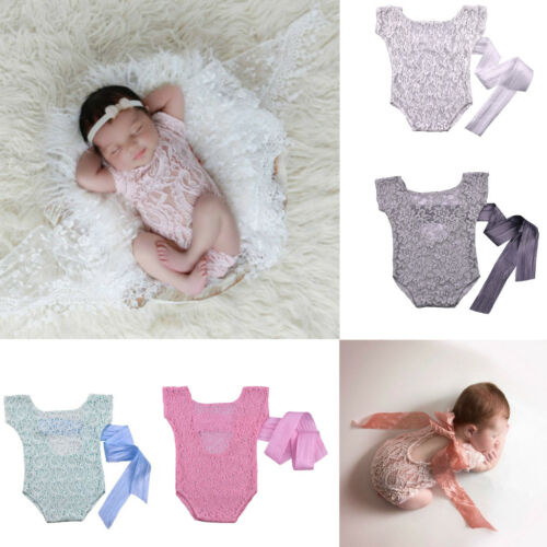 Newborn Infant Baby Girl Bodysuit Lace Romper Jumpsuit Outfits Sunsuit Clothes