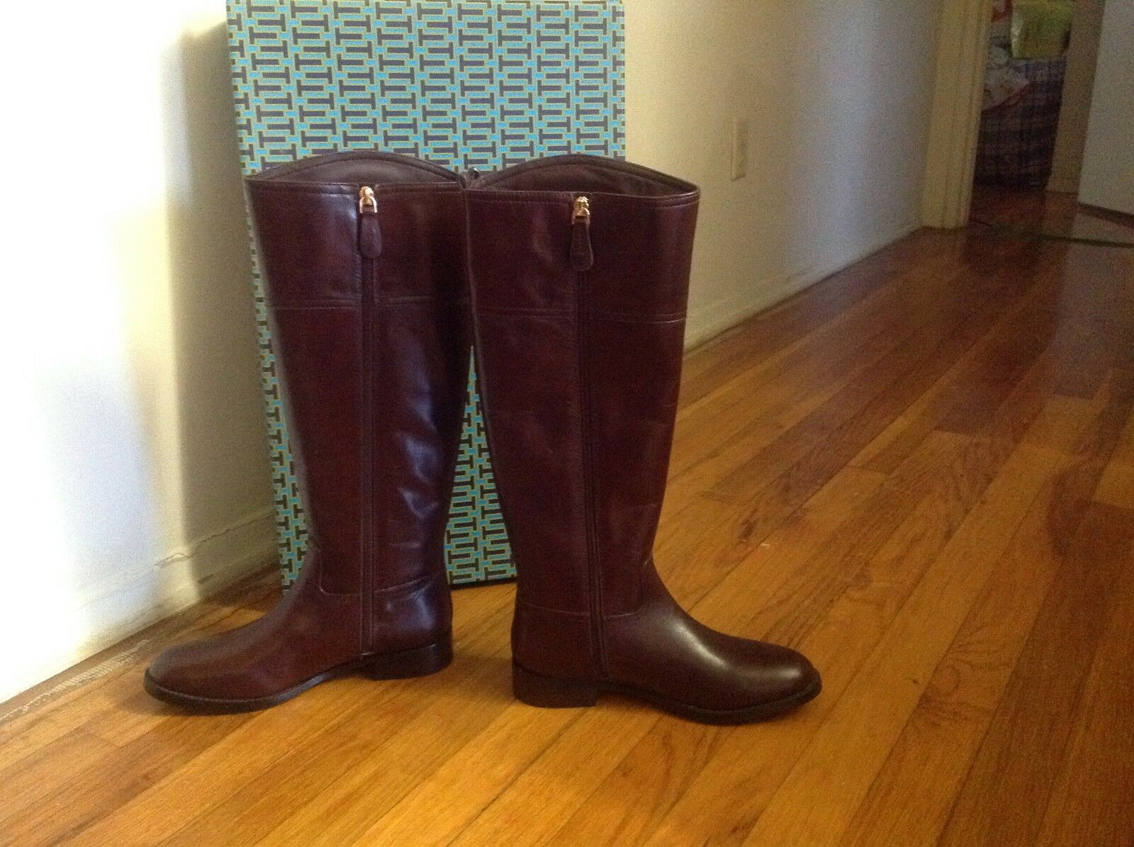 Tory Tory Tory burch kiernan 35MM boot- galleon leather color almond 7M 7439a6