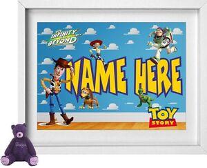 BOY//GIRL NAMEPersonalised Nursery PictureToy StoryFREE POST NP159