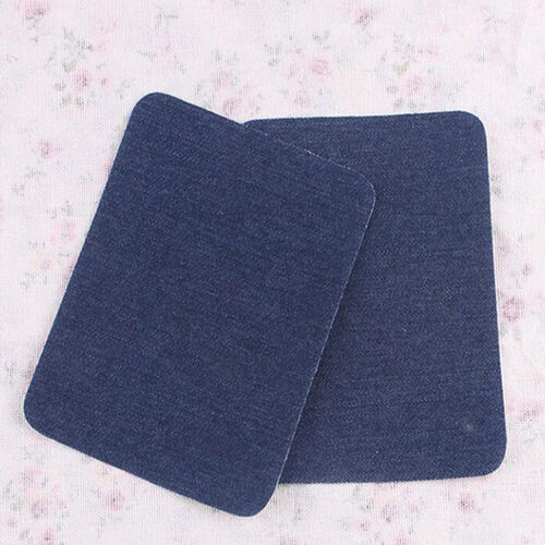 2x Iron-on Elbow Knee Repair Decor Denim Jean Patches DIY Sewings Applique·Patch