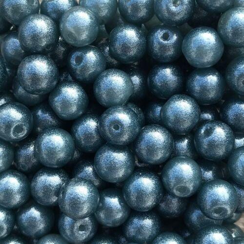 Glitter 50 Stück mosaic-blue 43719 Ø 6 mm Glasperlen
