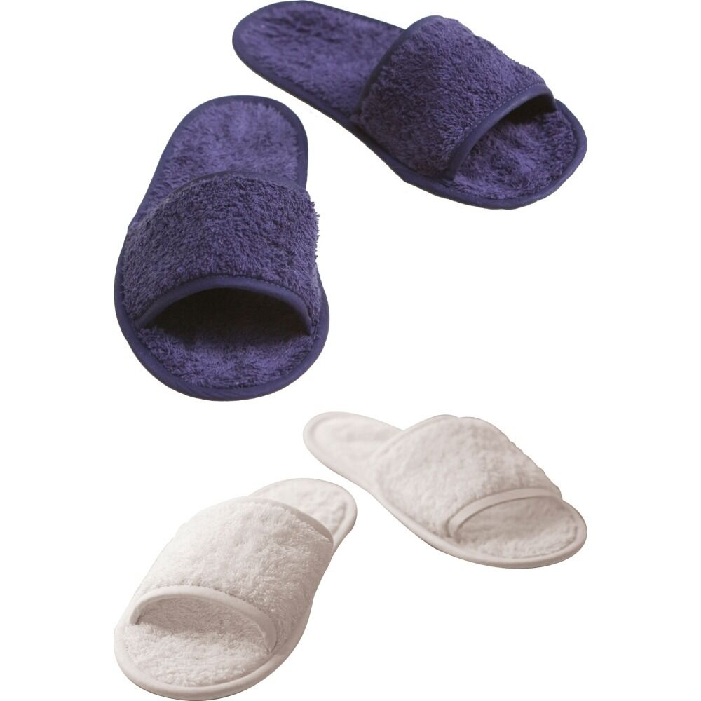 Unisex Adult Towel City Classic Cotton Material Slippers Open Mule Toe Terry Slippers Material ccfa18