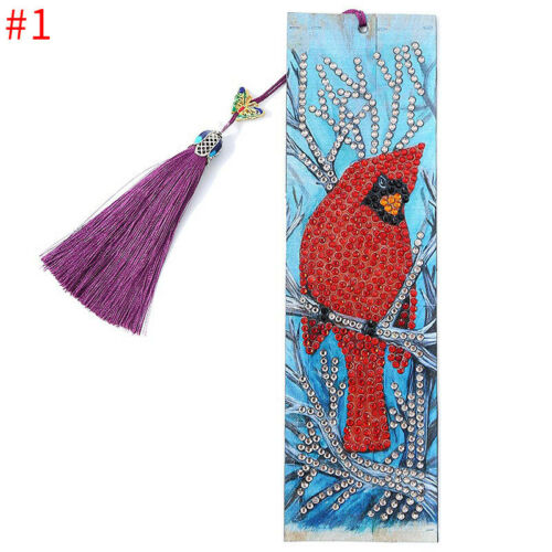 DIY Diamond Painting Kits Bookmark With Tassel Embroidery Christmas Art Gifts
