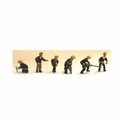 6 Mining Figures and Equipment OO scale Langley F211b - Unpainted