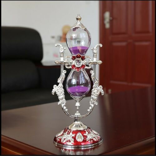 Ship from USA Russian Style Sand Timer Hourglass Desktop Toy Office Clock Decor