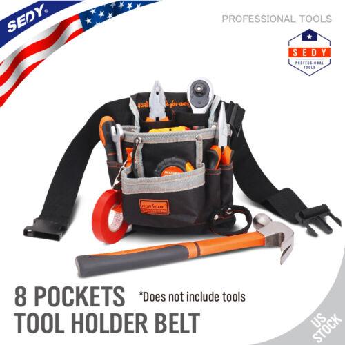 Tool Pouch Belt Bag 8 Pocket Slot Storage Holder Electrician Nylon Canvas