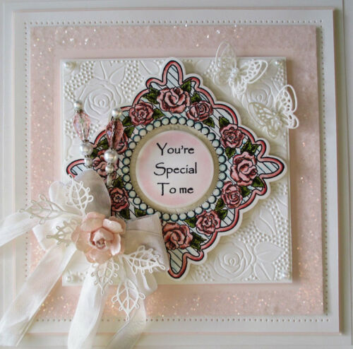 Creative Expressions Sue Wilson PinPoint Embossing Folder Rose Blooms EFPP009