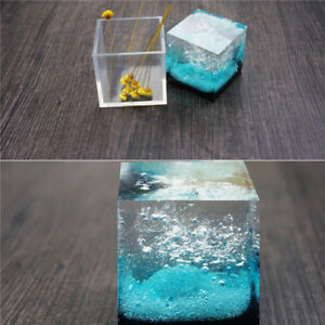 DIY Craft Cube Pendant Silicone Mold Making Jewelry Resin Casting Mould CO