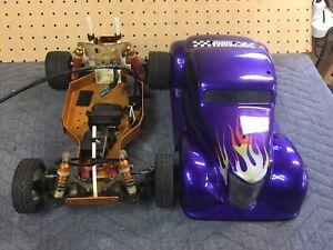vintage-rc10-team-associated-gold-pan-Futaba-Reciever-Servo-Motor-Nice-Look
