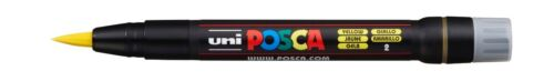 Posca Brush Paint Marker PCF-350 0.1mm 10mm Metal Glass  *10 Colours*