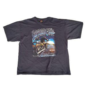 Mens-Vintage-Harley-Davidson-Australia-Southern-Cross-Tshirt-2000-Size-2XL
