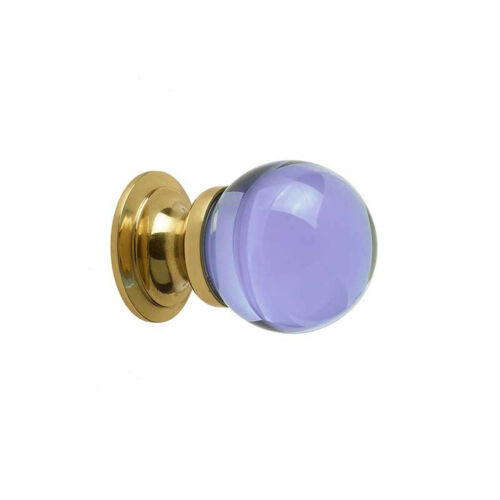 Coloured Plain Glass Ball Cupboard Knob