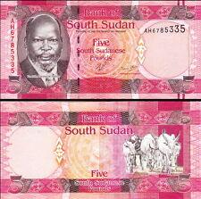 SUD-SUDAN South-Sudan - 5 pounds 2011 FDS - UNC