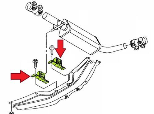 8N3 8N9 1.8 T 2 Stück Halter Auspuff Abgasanlage mitte AUDI TT TT Roadster