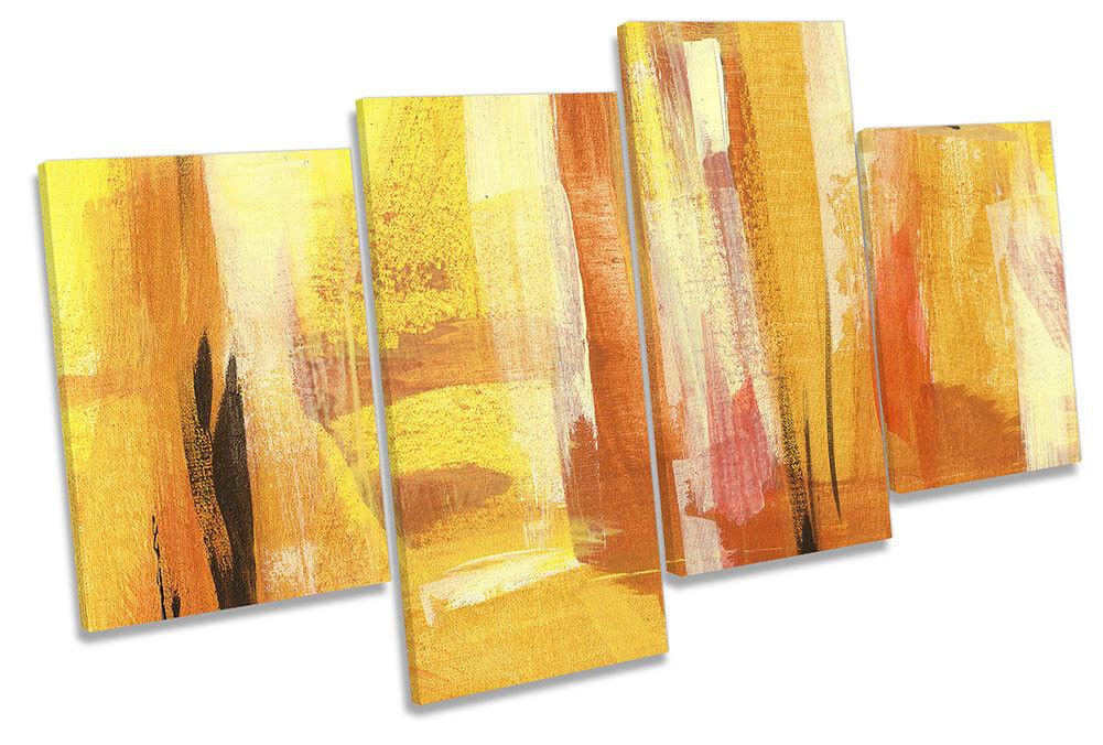 Naranja Abstracto Diseño Simple Pared Lona Arte impresión obras de arte impresión Arte de múltiples 65c371