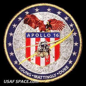 Apollo-16-Mission-Commemorative-5-034-Tim-Gagnon-ORIGINAL-AB-Emblem-NASA-PATCH