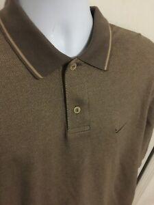 Nike-Golf-Short-Sleeve-Brown-Polo-Shirt-Mens-Size-M