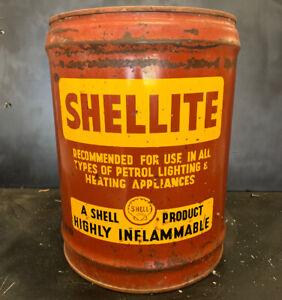 Shell-Shellite-Early-4-Gallon-Vintage-Oil-Tin-Drum