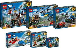 LEGO City Mountain Police complet SET 60170 60171 60172 60173 60174 60176 N1/18