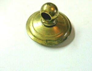 """Keeler KBC 1"""" Round Dark Brass Plated 1950 Rosette For Drop Bail Pull Repair Vtg"""