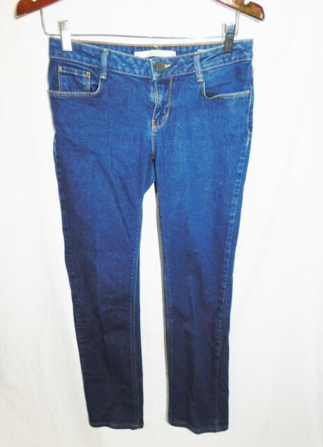 39e30d61 Zara Woman Size 4 Regular Fit Blue Jeans Dark Wash Straight Leg Denim EU 36