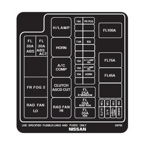240SX Silvia S14 Engine Bay Fuse Box Decals   eBay   Bay Fuse Box      eBay