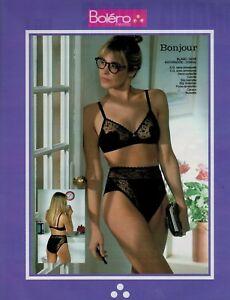 2d75eda262716 Image is loading 1989-BOLERO-Lingerie-Bra-amp-Panty-French-magazine-