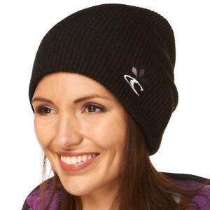 37b34c2d872 Oneill Womens AC Solid Relax Black Beanie Hat BNWT Skiing Boarding ...