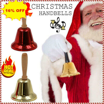 Details about  /Classic Metal Christmas Hand Bell New Year Santa Party Celebrate Rattle 2020