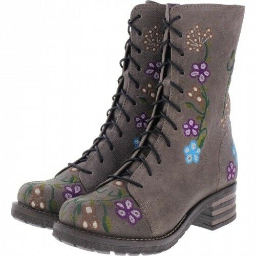 Brako   Modell  Military Oxide     Antracita Flower Leder   Stiefel   Art  8403     5182ad