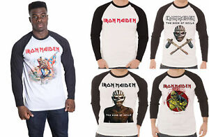 Iron-Maiden-T-Shirt-Homme-Livre-des-ames-piece-of-mind-new-Official-Baseball-Shirt