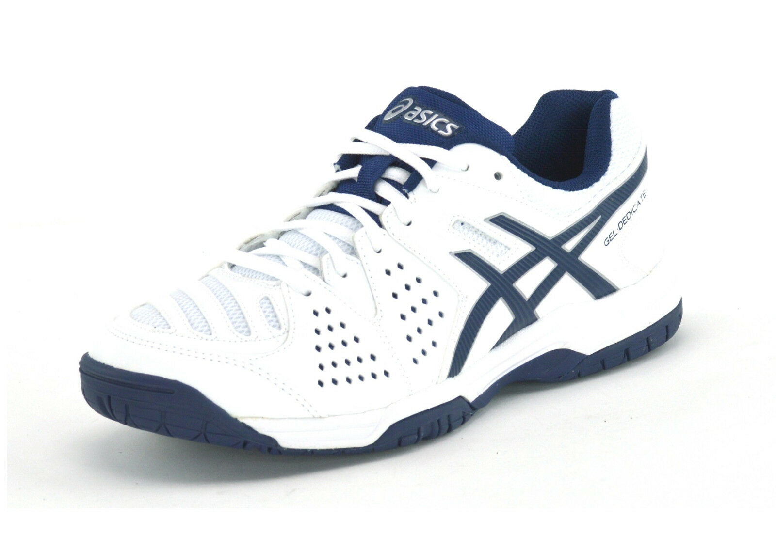 ASICS GEL DEDICATE 4 - E507Y 0150 - MENS TRAINERS - WHITE NAVY - BRAND NEW