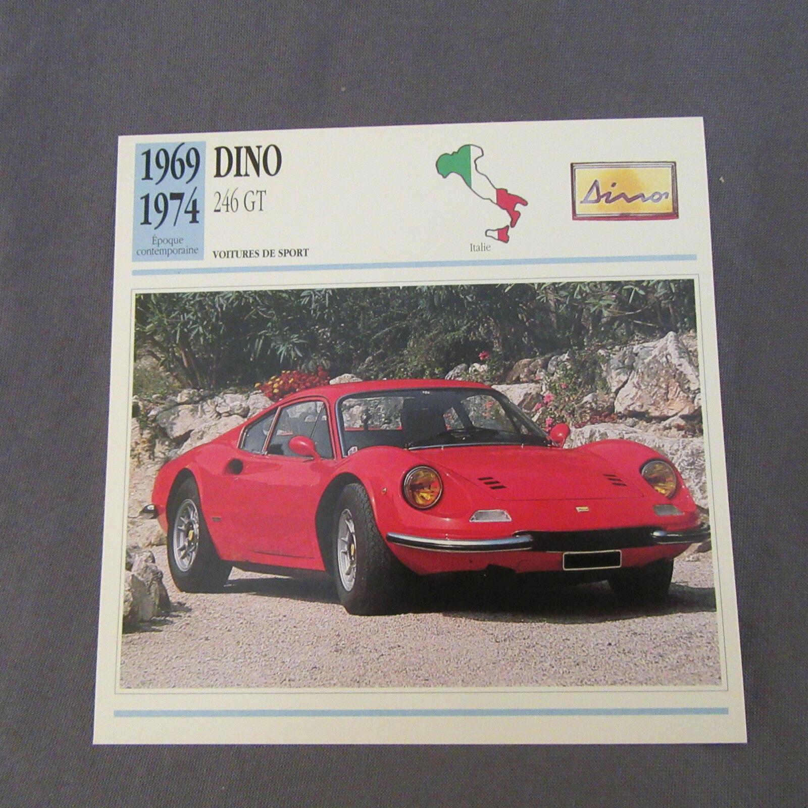 633C Edito Service Fiche Dépliant Ferrari Dino 246 GT