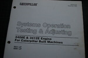 caterpillar 3408e 3412e engine system operation test adjust service rh ebay com HP Owner Manuals Owner's Manual