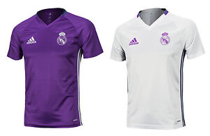 Men Adidas 16-17 Real Madrid Training Top S/s Shirts Ao311 Soccer Football Jersey Team Sports