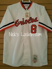 AUTHENTIC Mitchell & Ness 83 Baltimore Orioles Cal Ripken Jr Throwback Jersey 48