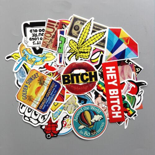 150 sticker bomb vinyl decal lot skateboard sticker vintage US Seller