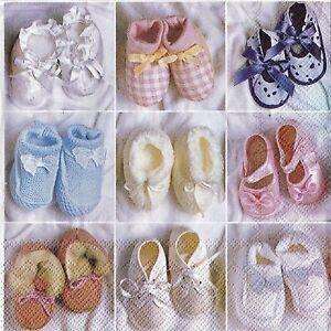Las servilletas de papel Zapatos De Bebé Bautizo Baby Shower Fiesta